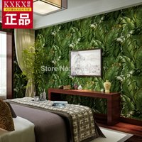 Al por mayor- 2016 Promation Perspectiva 3D Banana Leaf Wallpaper, Entrada telón de fondo de TV, Cuarto de baño impermeable Rollo de papel de pared para paredes
