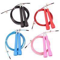 Wholesale Speed Cable Jump Ropes - 3 METERS Ultra Speed Original Cable Wire Skipping Skip Adjustable Jump Rope Crossfit home gym fitness crossfit jump rope