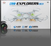 Wholesale Rc Filming - DHL Free shipping, Aviation filming 2.4GHz 4CH HD FPV Camera 6 Axis RC Helicopter Quadcopter Gyro 2GB TF Card with 2MP Camera