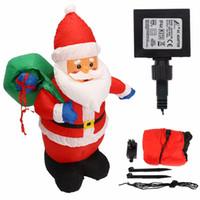 Wholesale Christmas Inflatable Santa Claus - 1.2m Inflatable Xmas Santa Claus With Hang Bag Christmas Decoration Party DIY Decor Mayitr Festival Supplies