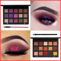 Wholesale 15 color eyeshadow palette - Free Shipping by ePacket New Makeup Eyes Denona Eyeshadow Palettes 15 Color LILA SUNSET PALETTE Purple Gold Eye Shadow Palette + Gifts