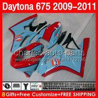 Wholesale Triumph Race Fairing - 8gifts Bodywork For Triumph Daytona 675 09 10 11 09-11 gloss Not Race Body 29NO157 Daytona675 2009 2010 2011 2009-2011 Fairing red black Kit