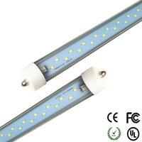 Wholesale T8 38w Lamp - led tube t8 8ft fa8 Single Pin 38W 48W 55W(optional) LED 2400MM Fluorescent Tube Lamps AC 85-266V