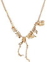 Wholesale Dinosaur Charms - Pendant Necklaces Woman Jewelry Goth Alloy Dinosaur Skeleton Dead Tyrannosaurus T-Rex Charm Necklace Dinosaur skeletons Punk Style Necklaces
