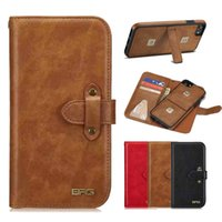 Wholesale Vintage Phone Book Cover - Retro Wallet Leather Case for iPhone X 10 8 7 6S Vintage Luxury Stand Book Phone Cover Detachable for iPhoneX iPhone8