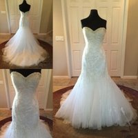 Wholesale Sweetheart Tulle Rhinestones - Mermaid Wedding Dresses Vintage Bridal Gowns 2017 Cathedral Wedding Gowns Cheap Princess Gowns with Rhinestones and Sweetheart Neckline