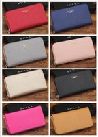 Wholesale Special Coins - High Quality 8 colors optional Ms. hand wallet fashion long walletS popular zipper pure color leather brand purse special discount