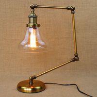 Wholesale long desk lamp resale online - Vintage Desk Light Switch Loft Designer Style Folded Floor Lamp Long Arm Regulating Individuality Creative Lamps