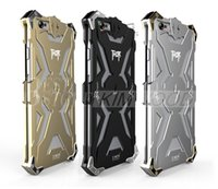 Wholesale Iphone Armour - Armor Case Shockproof Metal Frame + TPU Armour Case All Cover For iPhone 6 6s and iphone 6 plus 6s plus