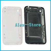 Wholesale Back White 3gs - White or Black Back Battery Door housing for Apple iPhone 3G 3GS 8GB 16GB 32GB Rear Battery Door Housing Case