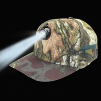 Camuflaje Night Fishing Caps con Head Light 5W de alto brillo LED Lámpara al aire libre que acampa que acampa Multiusos Tapa Tamaño libre