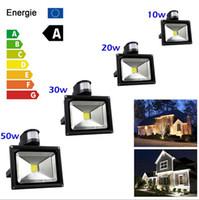 Wholesale Refletor Led - Outdoor Led Floodlight 10W 30W 50W PIR Motion detective Sensor LED Flood light LED spotlight Lamp Sensor refletor Landscape light
