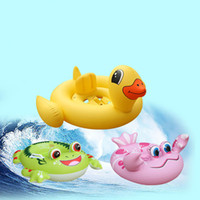 Cute Frog Duck Inflatable Ring Kids Baby Seat Float Bathing Animal Swimming Circle Accessoires de jouet de piscine pour 1- 6 ans Bébé