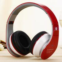 Wholesale Dj Foldable - HOT Mic Professional DJ Monitor Headphones Foldable wireless headphone bluetooth heheadphone headset sports running stereo headphone