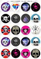 BoYuTe (20 pièces / lot) 20mm Round Pattern Cabochon Mix Skull / Skeleton / Owl / Lovers Image Verre Cabochon Blank Pendentif Cover xl6681