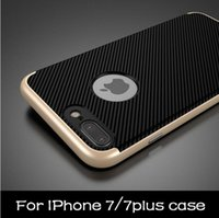 Wholesale Neo Hybrid Frame - New Ultra-thin Dual Layer Neo Armor Bumper Case For iPhone 7   7 Plus Hybrid Slim TPU PC Shockproof Frame Bag Back Cover Shell for iPhone7