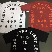Wholesale I Hip Hop Shirt - New Arrival Kanye West T-shirt I Feel Like Pablo Letter Print Season 1 T-Shirts Short Sleeve Hip-Hop Tees Shirts White Black Red YBF0905