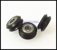 Wholesale 3d Printer Pulley - Wholesale- 10pcs Lot BW25 10mm W V groove bearing Openbuilds for 3D printer nylon wheel ball bearing with pulley track roller brand new