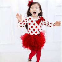 fleabane rock großhandel-Neue Kinderbekleidung Mode Punkt bitter fleabane bitter fleabane Rock Anzug Kinderbekleidung Kleinkinder Outfits Baby Sets Mädchen Anzug Kinder