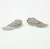 Wholesale Collar Tips Men - Wholesale- Men Women Pin Brooches Gold Silver Alloy Metal Angel Eagle Wing Brooch Shirt Tip Blouse Collar Clip Fashion Jewelry Accessories