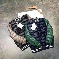 Wholesale Xxl Size Baseball Jackets - M0808 Brand men mon fashion Baseball clothing winter jacket men Warm Plus Size Man Down and parka anorak jacket size M-XXL