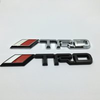 Wholesale Toyota Trd Stickers 3d - 3D Racing Car Badge Sticker Styling TRD Side Logo Car Rear Trunk Decals Emblem Sticker For Toyota
