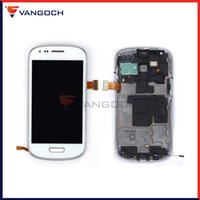 Wholesale S3 Mini Repair - For Samsung Galaxy S3 Mini i8190 LCD with frame Display Touch Screen Digitizer Assembly Replacement Repair free shipping