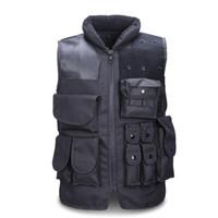 ingrosso girocollo corpetto nero-Gilet tattico da uomo Army Caccia Molle Softair Vest Outdoor Body Armor Swat Combattere Painball Black Vest per gli uomini