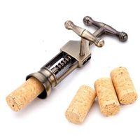 Wholesale Rabbit Wine Corkscrew - Retro Bronze Red Wine Opener Kirsite Rabbit Shape Wine Bottle Opener Corkscrew Port Red Wine Bottle Opener Champagne Openers OOA2826