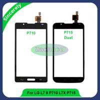 Wholesale Lg P713 - Touch Screen For LG Optimus L7 II P710 P713 L7X P715 P716 Digitizer Sensor Front Glass Lens Panel High Quality Phone Parts
