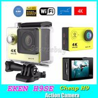 "Wholesale Cheap Mini Lcd - Original EKEN H9se Cheap H9 Action camera Ultra HD 4K WiFi 1080P 60fps 2.0"" Helmet Cam waterproof Sports cameras Mini DV DVR"