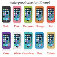 Wholesale Wholesale Red Peppers - Red pepper waterproof mobile phone case sets for iPhone 6 case following IP68 waterproof case certification