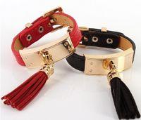 Wholesale H Style Bracelet - Hot new low Supi adjustable pu H bracelet bohemian style metal bracelet new female bracelet many colors for gift
