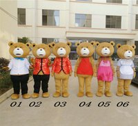 Wholesale Mascot Costumes Usa - Teddy Bear Movie of Ted Easter Mascot Costume Fancy Dress Adult free ship to USA