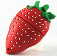 Cute Cartoon Strawberry USB Flash Drive Pen Drive 4GB 8GB 16GB 2GB Pendrive Flash U Stick USB 2.0 Memory Stick