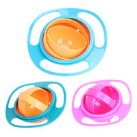 Wholesale Ufo Rotating Bowl - Wholesale Arrival Baby Uniaversal Gyro Bowl 360 Rotate Spill-Proof Gyro Feeding Bowl 3 Colors UFO Bowls Keep Balance Free Shipping (7)