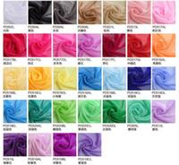 mehrfarbiges chiffongewebe großhandel-Candy Multicolor Pure Color Seide Schals Chiffon monochromatische Sonnencreme Stoff Schals für Lady Fashion langen Schal Wickelschal