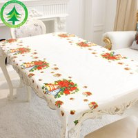 Wholesale Pvc Tablecloths - PVC Table Cloth Disposable tablecloth Holiday Festival Decorations Party Tools 4 colors 110*180cm table runner 2017 Christmas Free Shipping