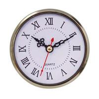Wholesale Wholesale Clock Inserts - 90mm Mini Insert Clock Watch Japanese PC12888 Quartz Movement gold Plasatic Fit UP Clock Insert Roman Numerals Clocks Accessories