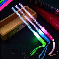 Bâtons acryliques LED Glowing Changeable Light Sticks Flashing Bar Concert Accompagnement Props Glow Party Supplies OOA2459