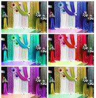 Wholesale Party Photo Backdrops - Purple Paillette Wedding Party Backdrop Curtain Swag Drape Wedding Party Decoration 10FT*20FT Birthday Anniversay Decor Photo Curtains Red