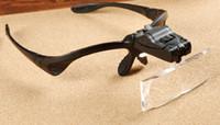 luz de lupa de lectura al por mayor-Lupas con luz LED y 5 lentes para injertar Extensión de pestañas, lectura de libro gafas led