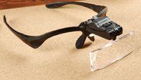 Wholesale Glasses Magnifying Glass - Magnifying Glasses with LED light and 5 Lenses for grafting Eyelash extension,book reading led glasses