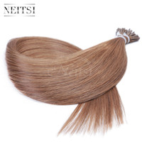 Wholesale Hair Pr - Neitsi 20inch 150g Keratin Stick Tips Hair I Tip Stick Human Hair Extensions Straight Soft Pr- Bonded Hair Extensions 150pcs lot 30#