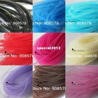 Wholesale Tubular Crinoline Wholesale - Non-Met Tubular Crin 30 Yards of Crinoline Cyberlox Stretch Tubing for Hair Accessories 4mm - 11 colors available