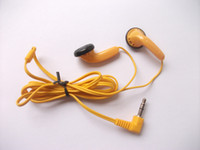 Wholesale Cheap Computer Stereos - Disposable yellow earbud headphones Cheap earbuds   8pcs  lot free shipping