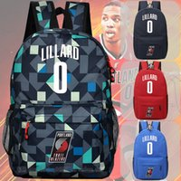 Wholesale Nude Ship Girls - new free shipping Damian Lillard backpack shoulder bag sports bag men and women of Middle School Students bags