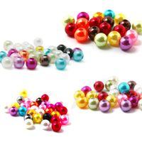 colliers bijoux abs achat en gros de-En gros Chaude 8mm ABS Imitation Perles Perles Faire des bijoux bricolage perles Bijoux Collier fait à la main livraison gratuite