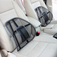 suppliers-suppliers Canada - Car Covers Mesh Lumbar Back Brace Support Office Home Car Seat Cushion Car styling Car Seat Back Support