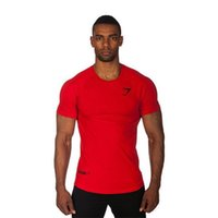 Wholesale Tight Sleeve Mens T Shirts - 2017 New Brand clothing Gyms Tight t-shirt mens fitness t-shirt Gym tops t shirt men fitness crossfit Summer top